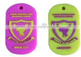 Soft rubber PVC Bag tag with custom logo
