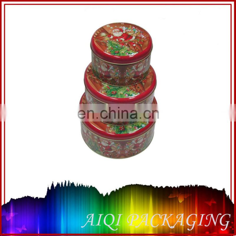 round metal tin box for nuts airtight snack packaging box manufacturer