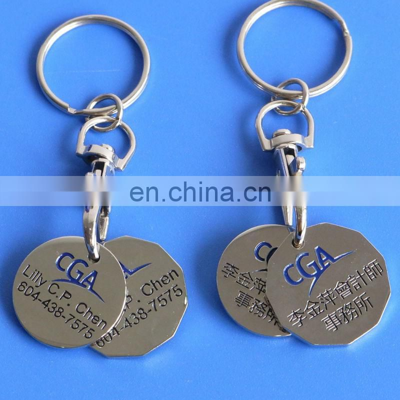 Canadian loonie key chain