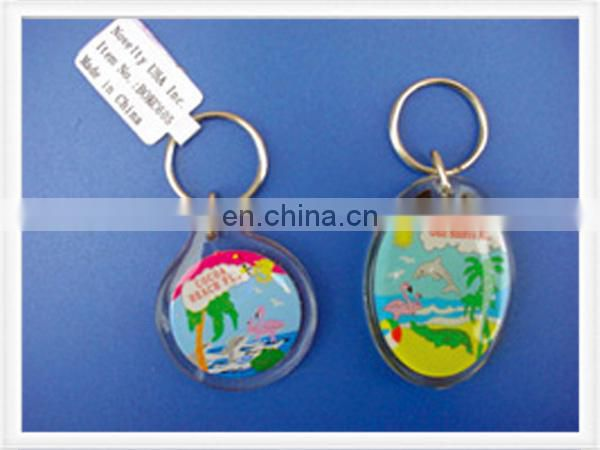 Acrylic keychain with thermometer and personal design