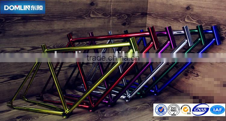 Wholesale Fixed gear bicycle frame sale,chromoly fixie single speed bike frame manufactery