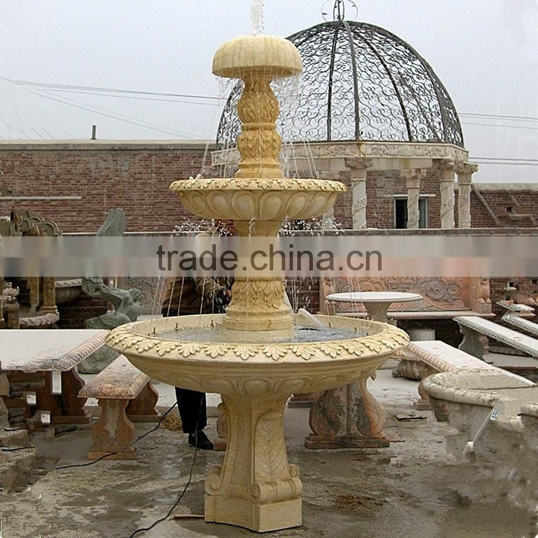garden decoration tiered water fountain tiered stone fountain