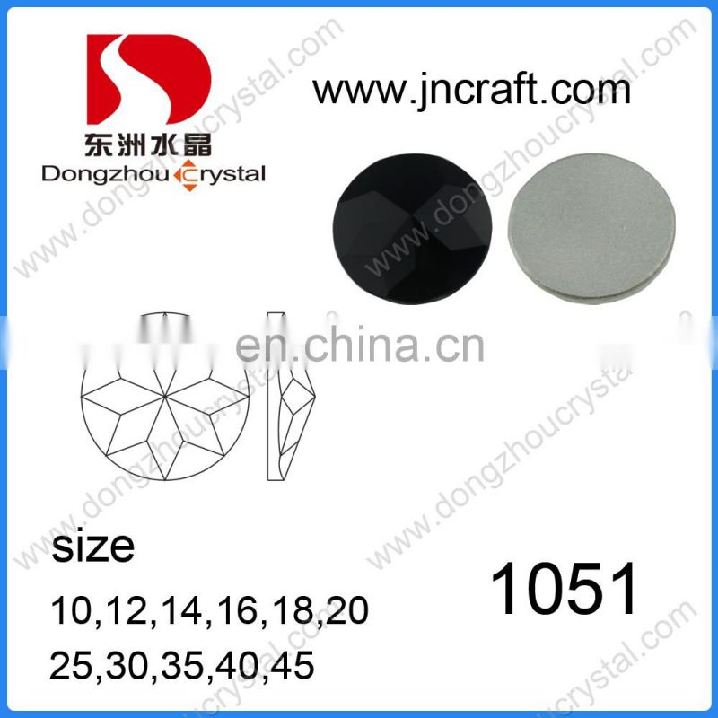 DZ-1051 round flat back glass stones for jewelry making
