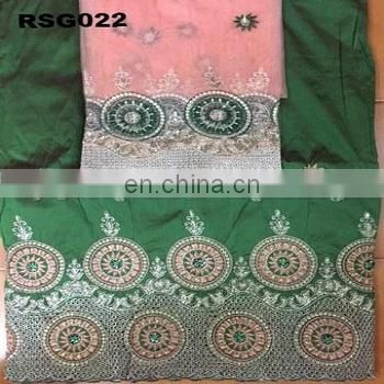 Single color noble embroidery flowers patterns voile lace george lace fabrics