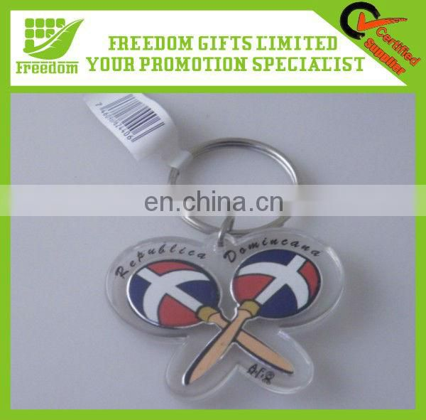 Clear Logo Custom Acrylic Key Ring