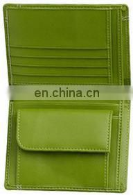 PROMOTIONAL GREEN LEATHER CARDS WALLET CUSTOMIZED