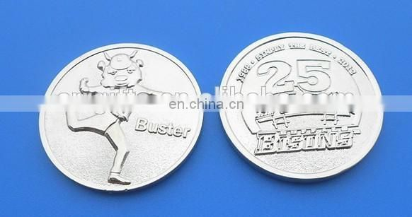 National League Of Baseball Games Collectable Silver Challege Coin