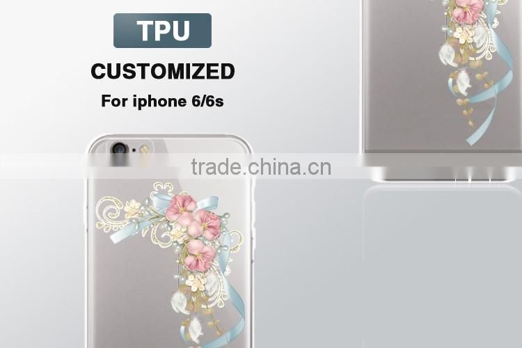innovational technology transparent tpu 2d sublimation casefor iphone 6 plus