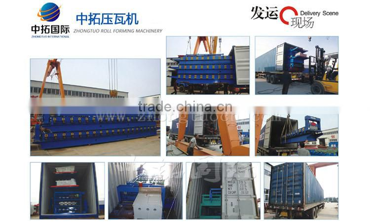 45# Forge Steel Corrugated Roof Roll Forming Machine with Product Run Out Table Auto-Stack