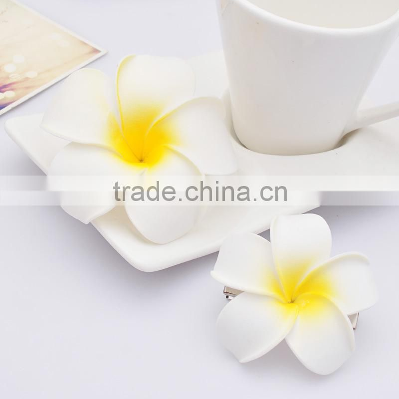 2014 Yiwu Aimee artificial frangipani flowers hair clip (AM-JJ-04)