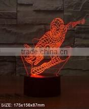 3D illusion cheering hand shape desktop color changing night light