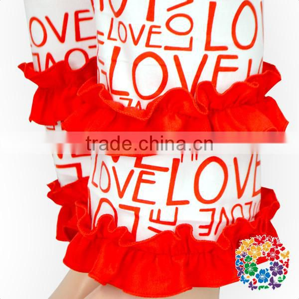 LOVE Print Baby Girls Outfit Long Sleeve Valentines Day Clothes Set Girls Boutique Ruffle Outfits
