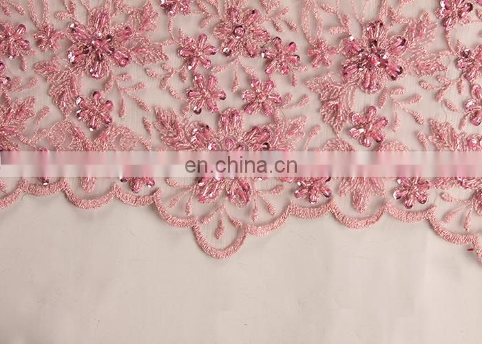 Celebrant Laces Series Beaded Dry Lace Embroidery Fabric For Women