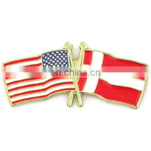 ... USA Flag/Christian Flag Lapel Pin ...