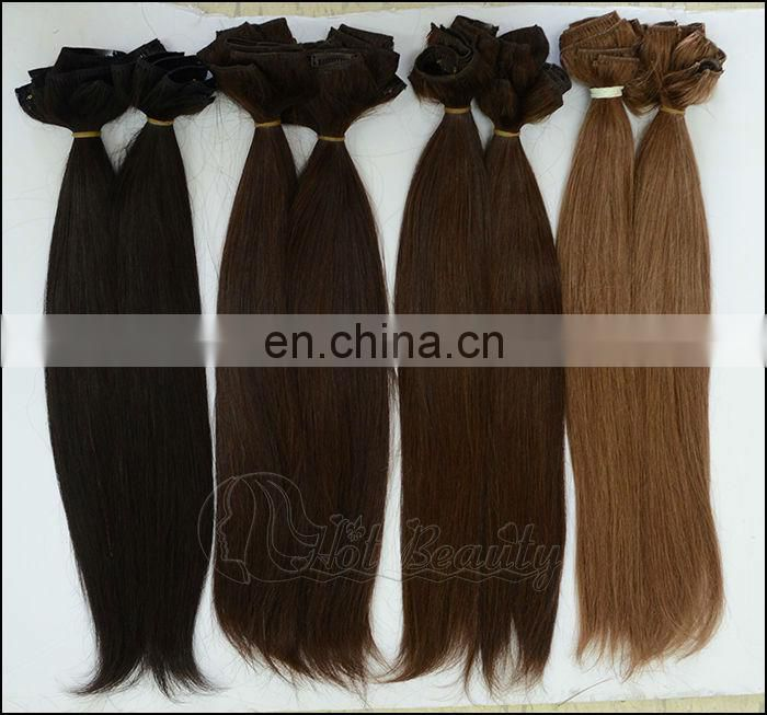 Indian Virgin Clips Hair China Alibaba 200 grams Cip in Hair Extensions