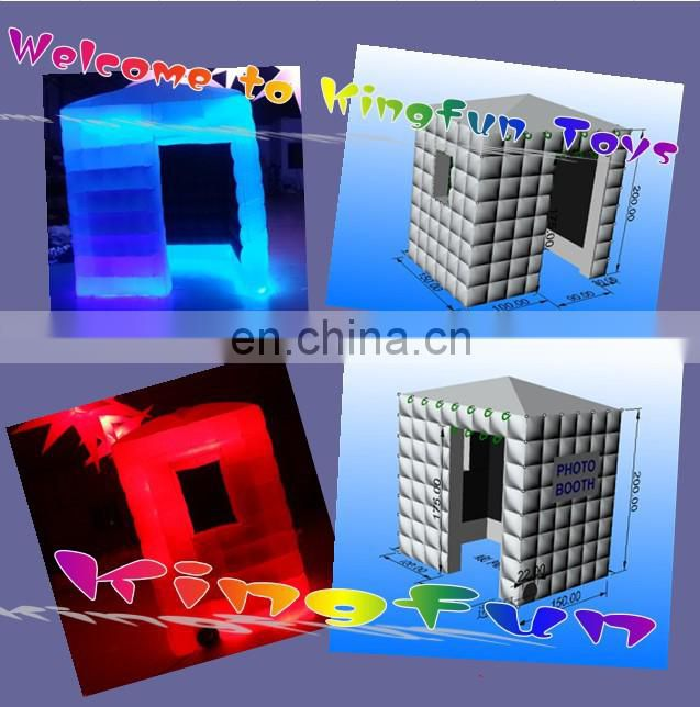 Hot sale Inflatable photostudio with LED lights