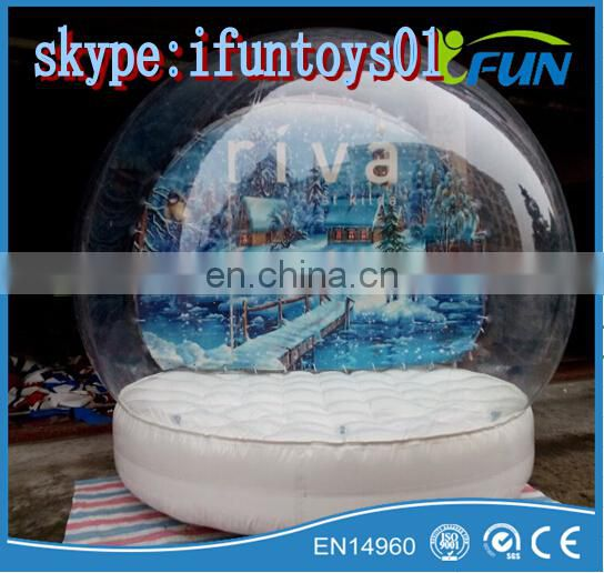 large inflatable snow globe christmas /inflatable snow globe ball / inflatable human snowglobe