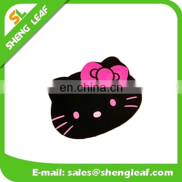 Custom hello kitty logo promotion nature rubber mouse pad