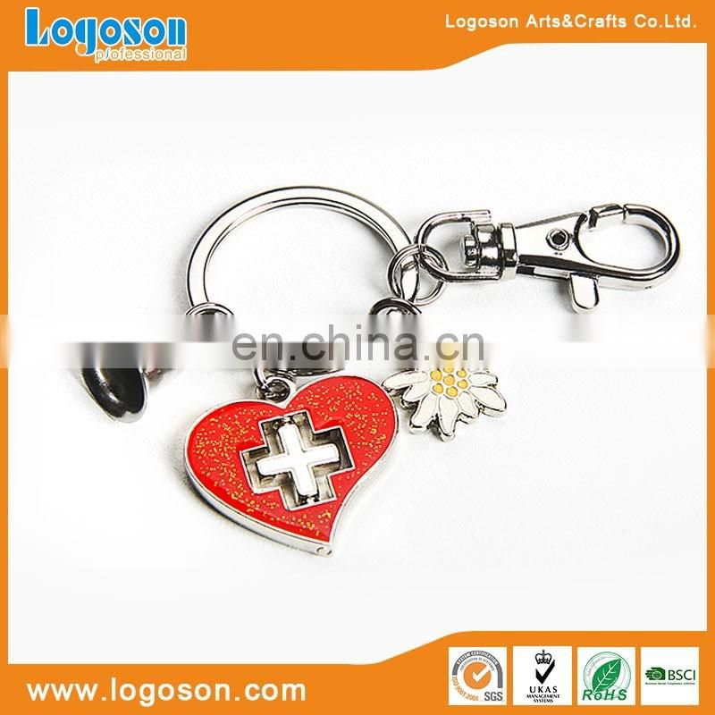 custom Effier tower heart pendant paris metal keychain pendants