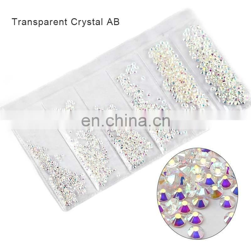 Partition-size 1200pcs Nail Art Crystals Rhinestones