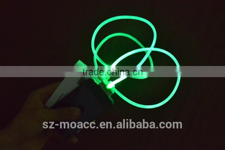 Micro usb cable with led light design for Android phone led usb cable for mobile phone