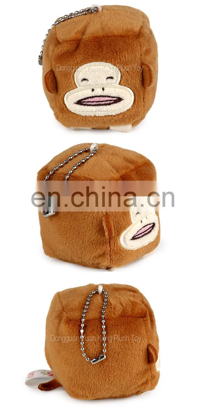 China Wholesale Cute Stuffed Animal Customized Monkey Plush Keychain Toy