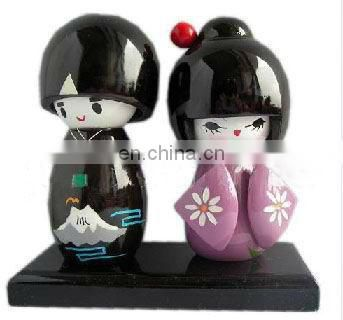 wooden japanese nesting dolls for decoration,sofa gift decoration