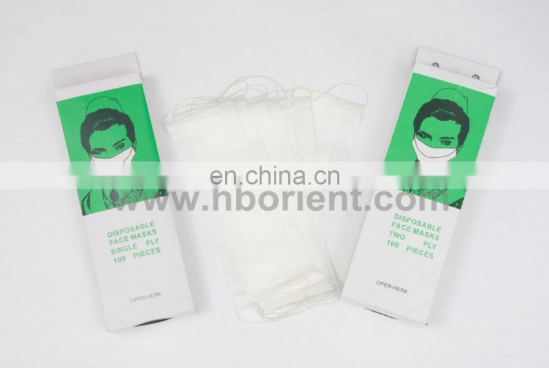 Disposable medical paper 1ply 2ply personal protective face mask