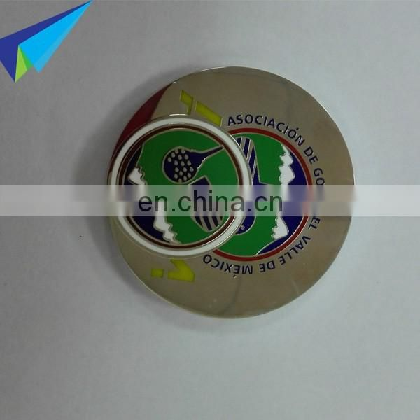 Custom magnetic golf ball marker holder golf poker chip
