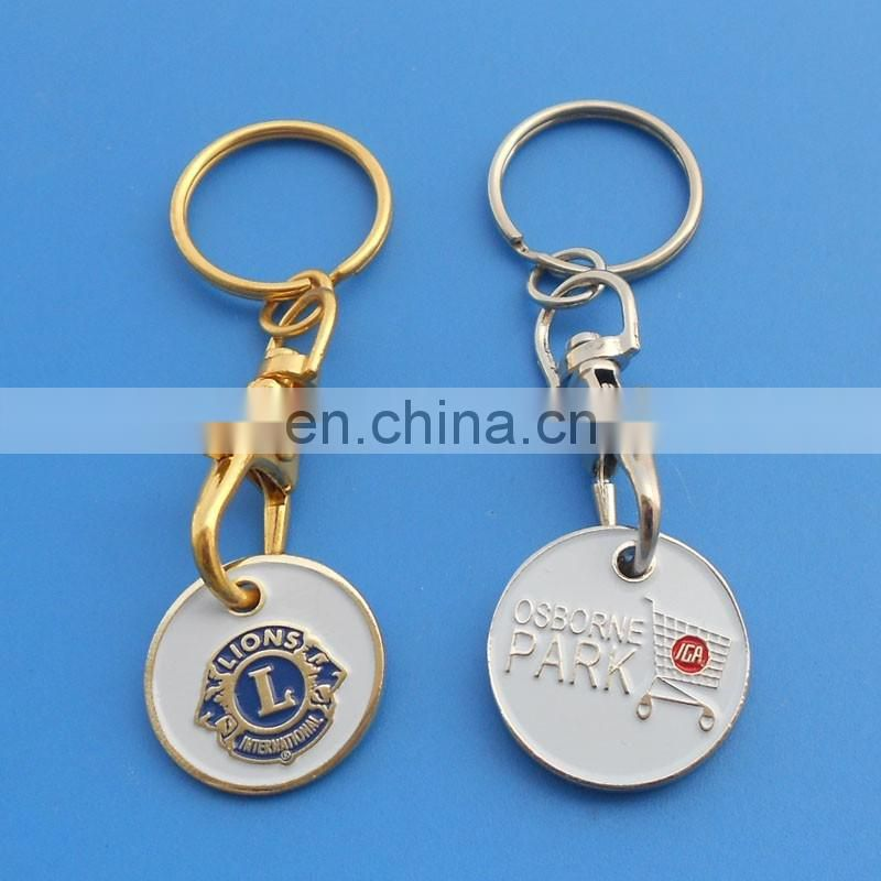 Enamel Imprint Be Safe And Sound Metal Trolley Token Coin For UK Supermarkets