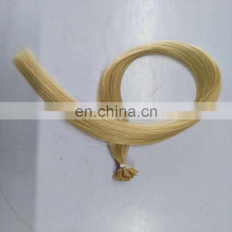 "1g/strand 24"" Light Blonde Flat Pre-bonded Remy Human Hair Extension/Keratin Flat -Tip Brazilian Hair Extensions"