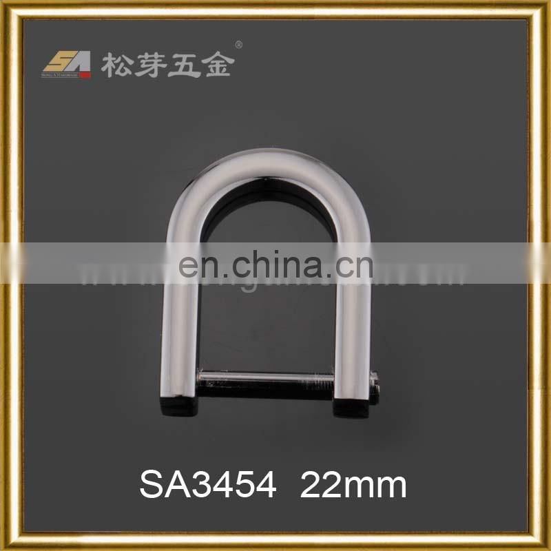 customized size zinc alloy screw d ring removable for bag strap