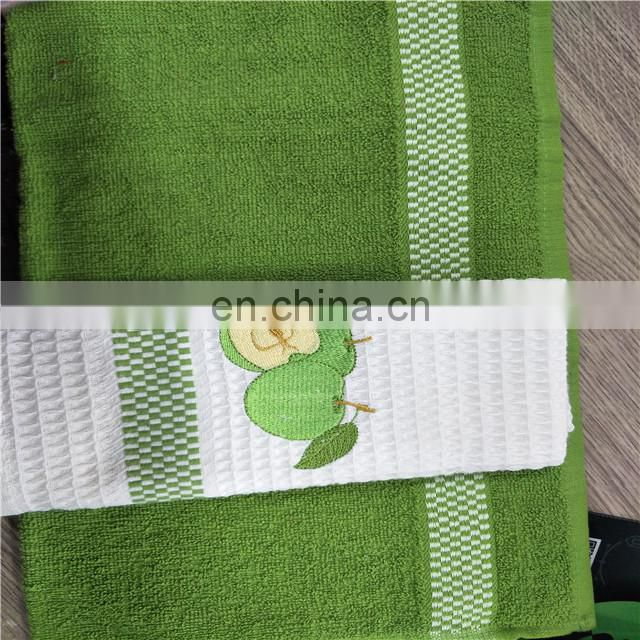 100% cotton Gift box embroidery cotton tea towel