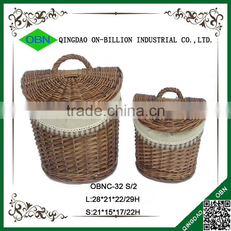 Storage cheap willow indoor hanging basket