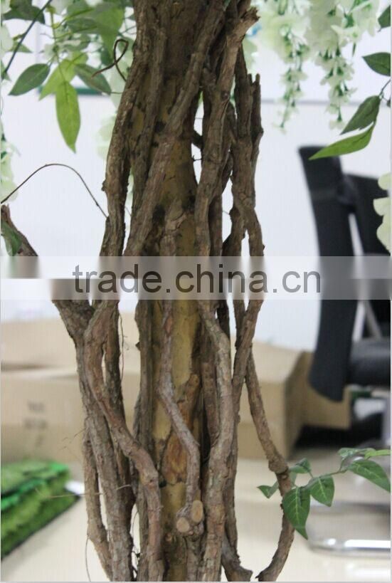 artificial wisteria tree,white wisteria flower tree/small size flower tree