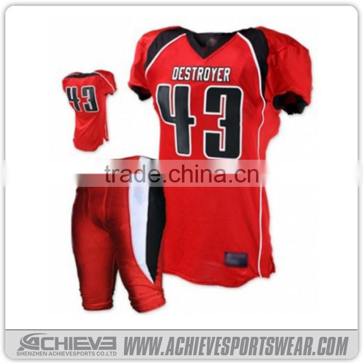 DRY Fit American Football Uniforms/support Tackle Twill American Football
