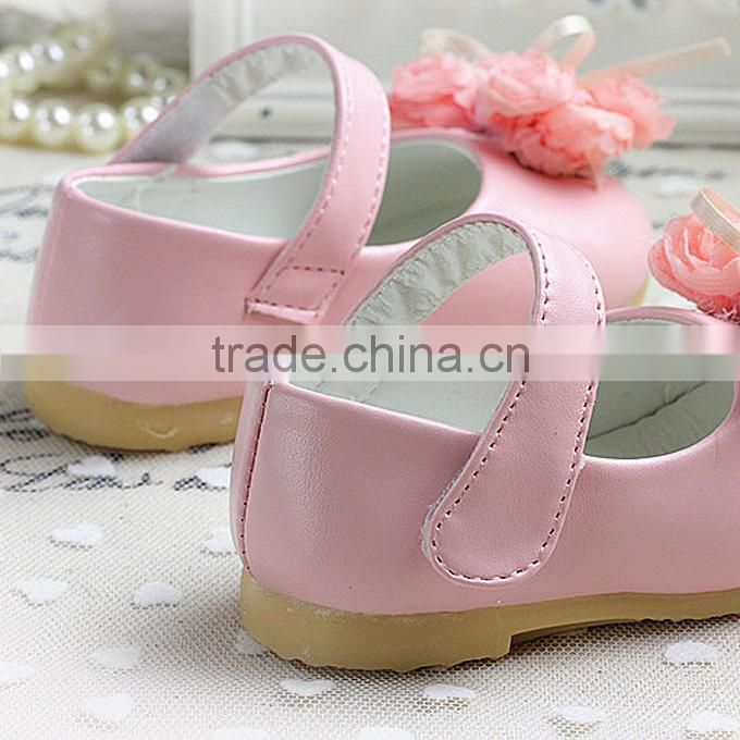 2016 Fall Baby Girl Shoes Wild Infant Shoes Bow Lace Sweet Kids First Walker Shoes For Children Wear Free Shipping KS40818-4