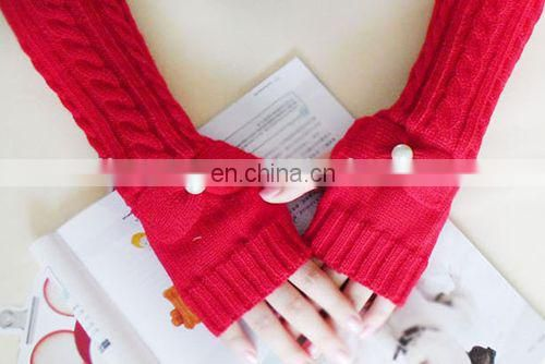 Fashion knitted long glove