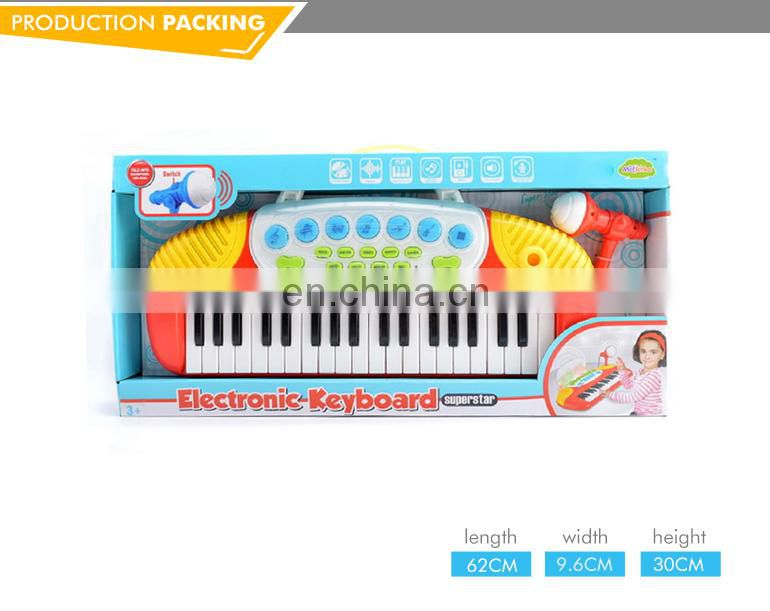 High quality 37 key electronic multifunctional toys piano with microphone