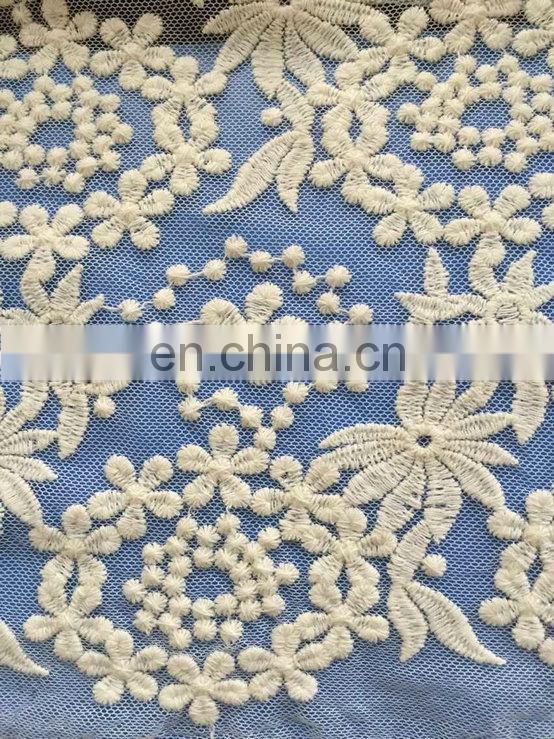 floral guipure mesh chemical lace fabric