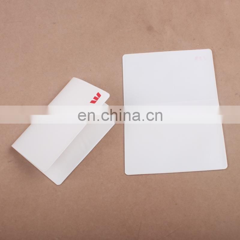 Custom pocket folding name print cheap pvc credit visa promotional wholesale atm clear business vinyl plastic card holder