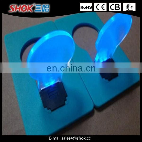 2016 New disign Product Wholesale Bulb Shape LED Credit Card Light