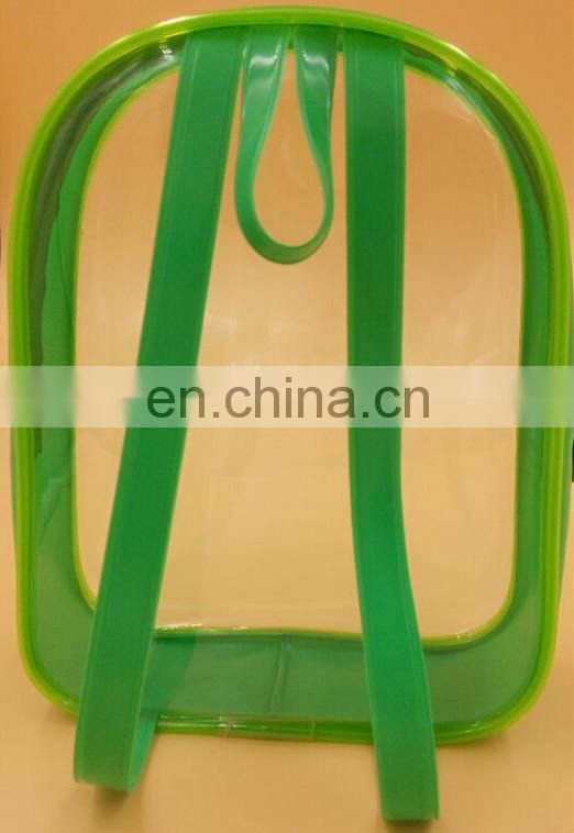 Small colourful transparent PVC backpack gift bag Wholesale For All Seasons