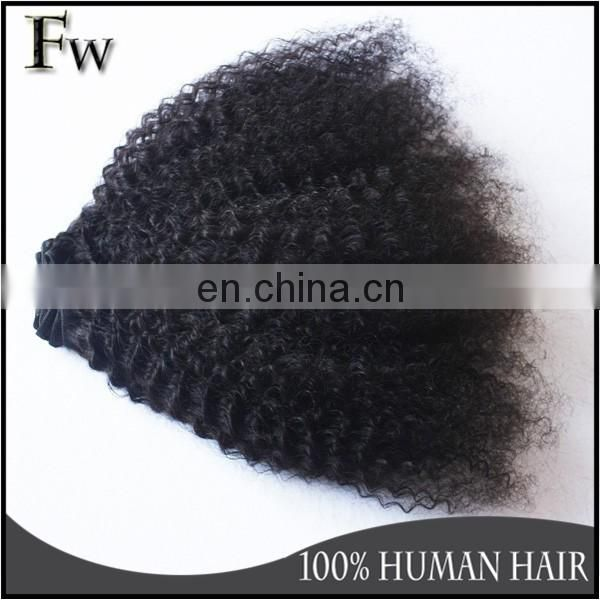 Hot sale remy nova hair weave virgin afro kinky human hair extension for black women