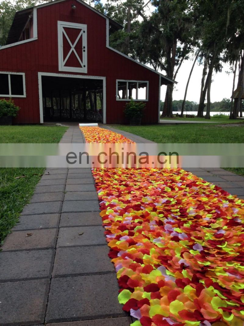 Rustic Wedding Petal Aisle Runner