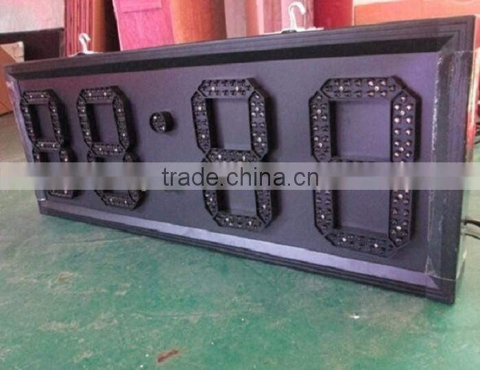 Outdoor 12 inch Green Waterproof LED Time Display, LED Time and Temp Display