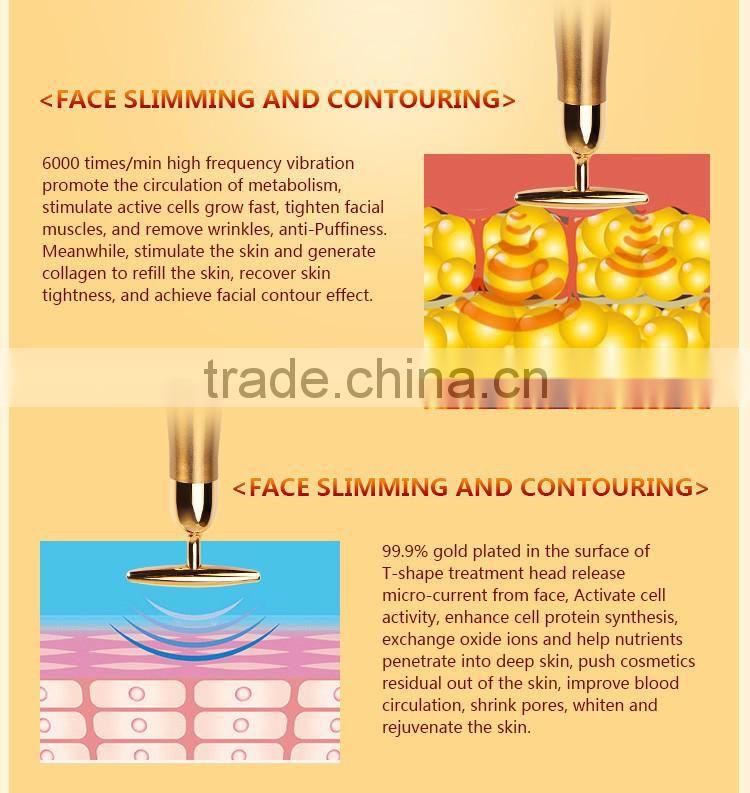 Private label 24k gold skin care gentle magic skin care device of