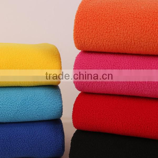 Soft comfortable double sides brushed polar fleece farbic for bed sheet