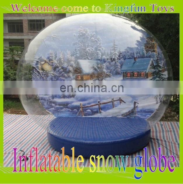 2014 New year inflatable snow ball for photo