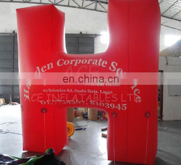 Inflatable H shape helium balloon with customized size